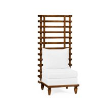 High Back Occasional Chair, Upholstered in COM