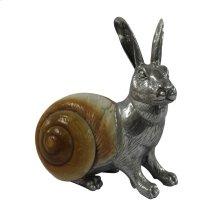 Rabbit Sculpture - Aluminum & Seashell
