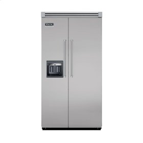 "Metallic Silver 42"" Side-by-Side Refrigerator/Freezer with Dispenser - VISB (Integrated Installation)"