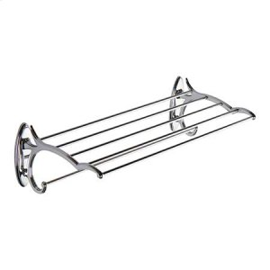 "Polished Chrome 20"" Hotel Shelf with Towel Bar"