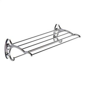 """Polished Chrome 20"""" Hotel Shelf with Towel Bar"""
