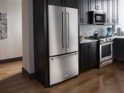 22 cu. ft. 36-Inch Width Counter Depth French Door Refrigerator with Interior Dispense - Panel Ready