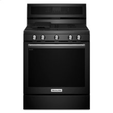 KitchenAid® 30-Inch 5-Burner Gas Convection Range - Black