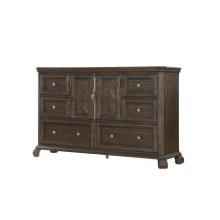 Emerald Home B553-01 Knoll Hill Dresser Walnut Brown B553-01
