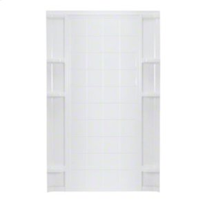 """Ensemble™ 60, Series 7213, 60"""" x 72-1/2"""" Tile Alcove Shower - Back Wall - White Product Image"""