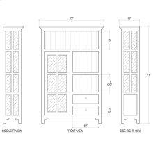 Aries Kitchen Single Door Cupboard