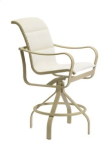 Shoreline Padded Sling Swivel Bar Stool