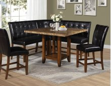 "Cavett Brown PU Counter Bench 44"" x 24"" x 43"""