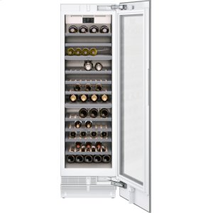 "Gaggenau400 series 400 series wine climate cabinet Fully integrated, panel ready, with glass door Niche width 24"" (61 cm)"