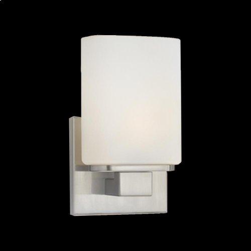 1-LIGHT WALL SCONCE - Satin Nickel