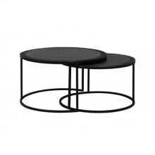 Coffee table S/2 65x37+ 75x41 cm TALCA lead antik edge