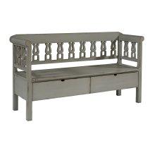 Dove Grey Hall Bench