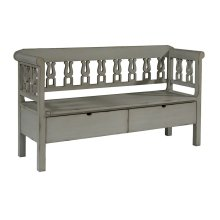 Dove Grey Hall Bench