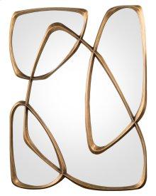 Zeta Mirror in Mayan Bronze