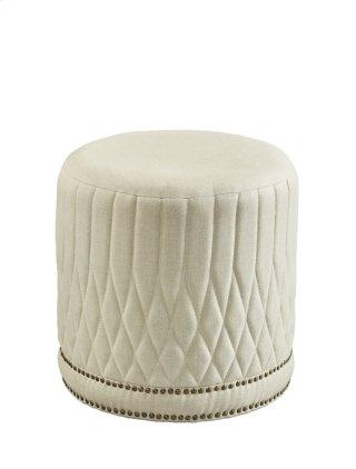 Linen Paris Flea Ottoman