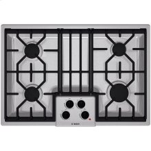 "30"" Gas Cooktop 500 Series - Stainless Steel"