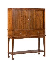 Buffet / Bar with Wood Shelves
