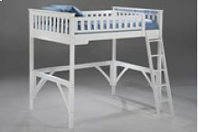 Ginger Loft Bunk in White Finish