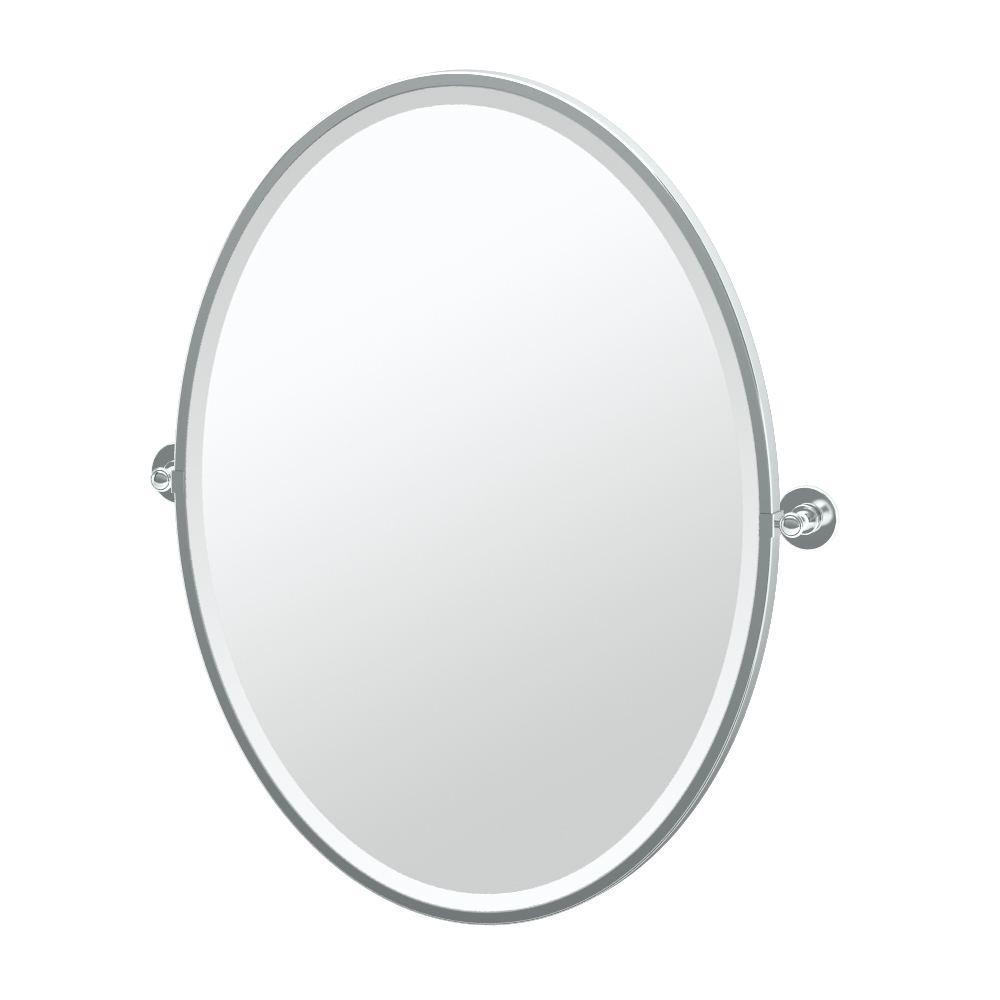 Additional Terrace Framed Oval Mirror in Chrome