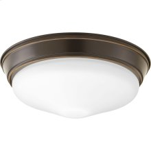"One-Light 13-1/4"" Etched Glass LED Flush Mount"