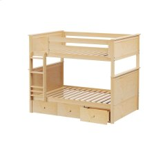Full/Full Bunk   3 Drawer Storage Natural