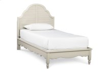 Inspirations by Wendy Bellissimo - Seashell White Catalina Platform Bed T 3/3
