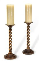 Pair of Open Barley Twist Light Walnut Candlesticks Product Image