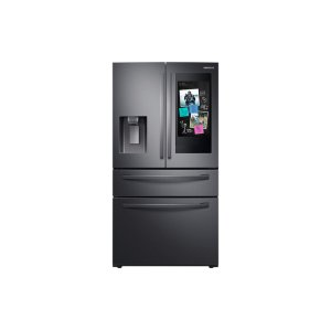 "Samsung Appliances22 cu. ft. 4-Door French Door, Counter Depth Refrigerator with 21.5"" Touch Screen Family Hub in Black Stainless Steel"