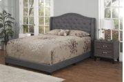 Dark Grey Fabric Upholstered 3pc. Full Bed Product Image