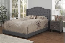 Dark Grey Fabric Upholstered 3pc. Full Bed