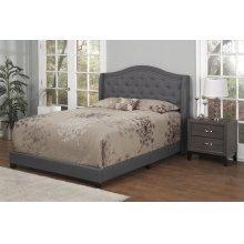 Dark Grey Fabric Upholstered 3pc. Full Bed