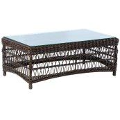 "Newport 43"" Rectangular Coffee Table w/ glass top"