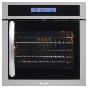 "Haier Appliance24"" Single 2.0 Cu. Ft. Right-Swing True European Convection Oven"