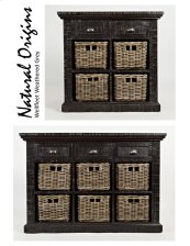 Natural Origins Wellfleet Weathered Grey Small Accent Chest