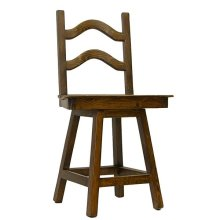 "30"" Laguna Swivel Barstool W/Leather Seat"