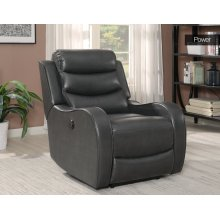 "Wyatt Power Recliner Chair Charcoal 35""x39""x40"""