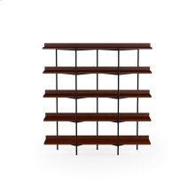 Shelving System 5305 Sh Fr in Chocolate Stained Walnut