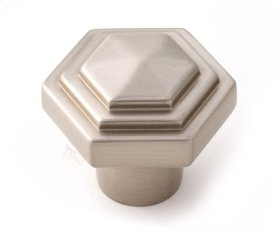 Geometric Knob A1535 - Satin Nickel
