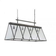 Hanging lamp 4L 112x46x64 cm SVEA vintage tin-glass