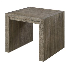 Square End Table-pewter Finish-rta