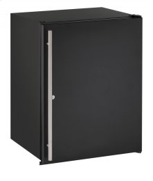 "Ada Series 24"" Ada Solid Door Refrigerator With Black Solid (lock) Finish and Field Reversible Door Swing (115 Volts / 60 Hz)"