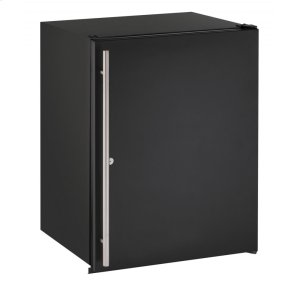 "U-Line Ada Series 24"" Ada Solid Door Refrigerator With Black Solid (Lock) Finish And Field Reversible Door Swing (115 Volts / 60 Hz)"