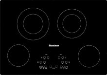 "30""W Electric Cooktop, 4 burner, Black"
