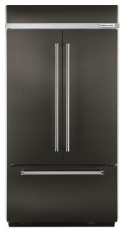 "24.2 Cu. Ft. 42"" Width Built-In Panel Ready French Door Refrigerator with Platinum Interior Design - Black Stainless Product Image"