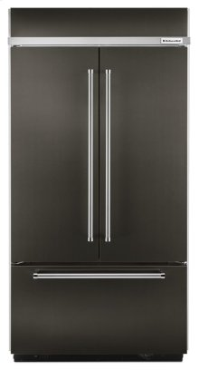 "24.2 Cu. Ft. 42"" Width Built-In Panel Ready French Door Refrigerator with Platinum Interior Design - Black Stainless"