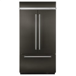"""20.8 Cu. Ft. 36"""" Width Built-In Panel Ready French Door Refrigerator with Platinum Interior Design - Black Stainless"""