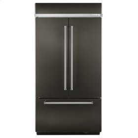 "20.8 Cu. Ft. 36"" Width Built-In Panel Ready French Door Refrigerator with Platinum Interior Design - Black Stainless"