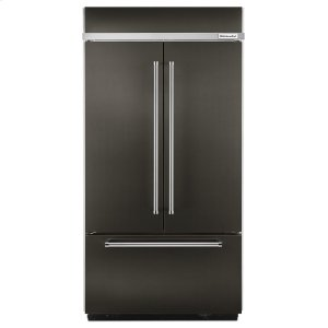 "KitchenaidBLACK STAINLESS24.2 Cu. Ft. 42"" Width Built-In Stainless French Door Refrigerator with Platinum Interior Design - Black Stainless"