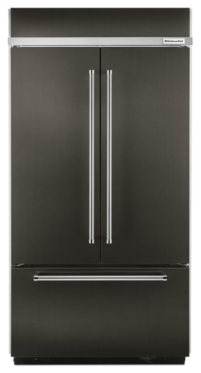 "24.2 Cu. Ft. 42"" Width Built-In Stainless French Door Refrigerator with Platinum Interior Design - Black Stainless Product Image"