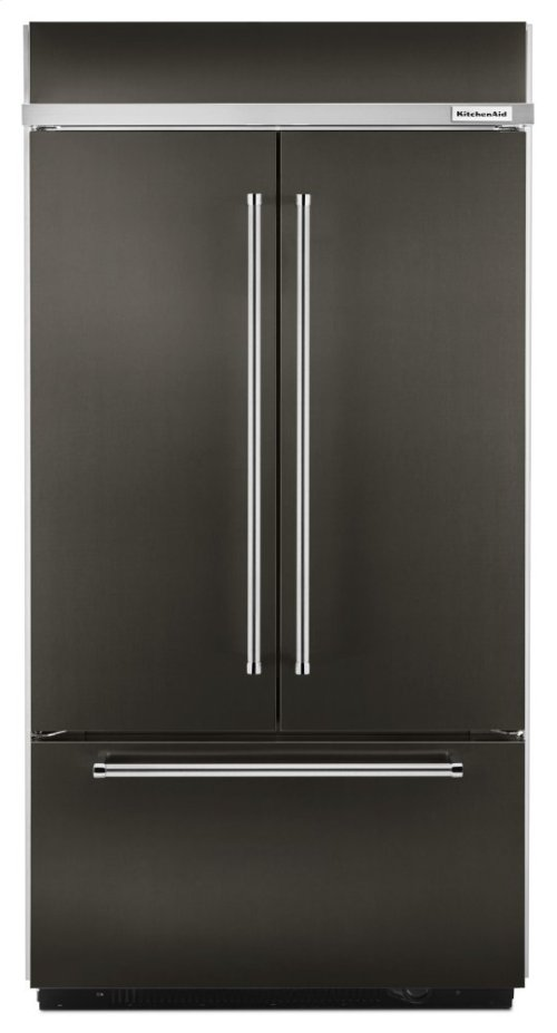 """24.2 Cu. Ft. 42"""" Width Built-In Stainless French Door Refrigerator with Platinum Interior Design - Black Stainless"""